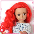 """Boneca vermelha da cor do cabelo para a boneca da moda por atacado 18"""" boneca"""