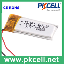 High quality lipo li-polymer rechargeable battery 401230 3.7v