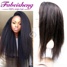 100% Virgin Indian Remy Full Lace Wig thin skin Human hair wig
