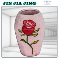 Rose pink flower pot