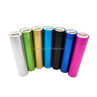 Metal Cylinder Power Bank 2600mAh for Smartphone Portable Battery Bank
