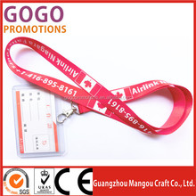 personalised lanyard no minimum order with custom logo High quality newest design heat transfer silk printing lanyard for gifts