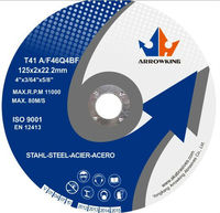 "5""(125x2x22.2mm) Reinforced Resin Flat Cutting Disc for Metal"