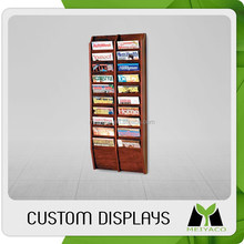 Top quality new style wooden office magazine display