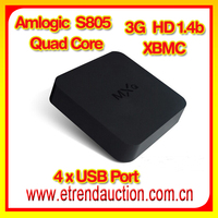 Amlogic S805 MXQ Android Smart TV Box 4K Support iptv arabic channels french tunisia over 400 channels arabic media box iptv