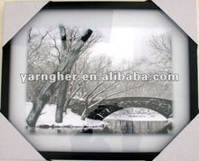 2012 fashion white mat silver plastic mat glass picture frame