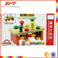 Intellignet toy mashroom piling toys wooden game toys for baby