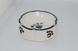 Dog foot Printed Stainless Steel Pet Bowl