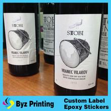Mejor etiqueta de la etiqueta estera de encargo baratos yoga etiqueta de vino brillante