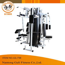 Four Station Home Gym Equipment With 220LBx2 Plastic Weight Stack