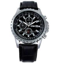 Alibaba brand SKMEI watch genuine leather strap watch playboy