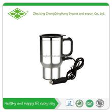 Hot sale,450ml 12V stainless steel car coffee warmer mug with handle