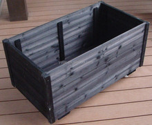 Patio Garden Living & Prevents Cracking Wooden Flower Box