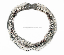 New Designs Imitation Pearl and Zinc Alloy Exquisite Classical Type Necklace