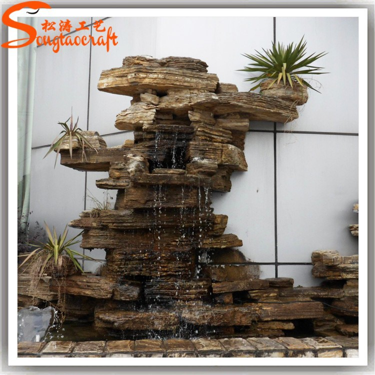 New Product 2015 Marble Water Fountain Sale Artificial Waterfall Fake Stone Rockery For Home