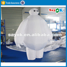 Popular inflatable cartoon character inflatable baymax customized