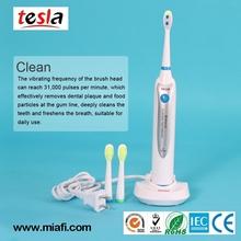 TESLA MAF8100 Dupont nylon home use massage electrical toothbrush with manufacturer