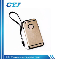 New Arrival high quality for iphone 6 defender case with dust cap TPU+PC material