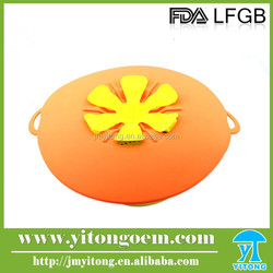 Wholesale 100% Food Grade Endurable colorful silicone pot lid / silicone pot cover lid