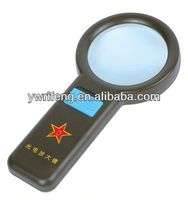 2014 Promotion gifts pocket led magnifier/acrylic lens/magnifier sound keychain