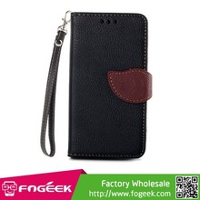 Paypal Accepted for Sony Xperia Z3 Compact Leaf Pattern Leather Wallet Stand Case w/ Lanyard