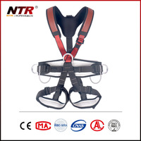 thick strap full body safety harness made of polyamide