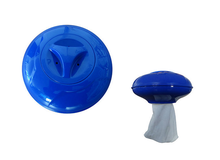 Swimming pool chemical dispenser for 3'' tablets with replaceable sock