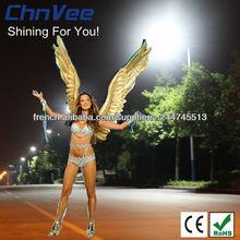Prix de lampadaires solaires appareils avec colonne& poly panneau éclairage public à led
