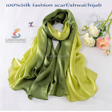 Lightweight Extra long infinity most beautiful arab hijab 100% silk scarf