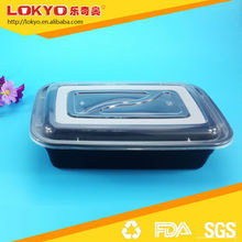 Diaposable plastic food container takeaway food container