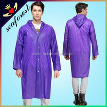 long transparent adult pvc rain coats/raincoats/rainwear
