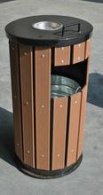 WPC oudoor dustbin for garden Anti UV and waterproof