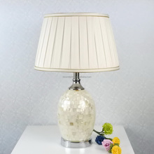 Bloom 2015 home style Clasic pearlescent shell mosaic table lamp