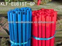 120x2.2cm pvc coat wooden handle for broom/pvc coated wooden stick for broom/pvc coated wooden handle for mop (201406)