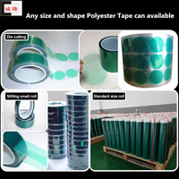 ISO9001&14001 Certified green silicone adhesive masking tape