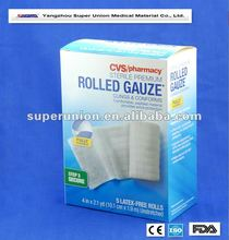 best sell in 2012 dressing disposable sterile cotton rolled gauze