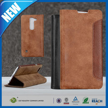 C&T Customized Leather Folio Stand Protective Wallet Case Cover For LG Spirit
