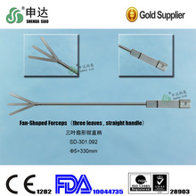 Surgical Instruments Medical Equipment Device three leaves Straight handle Fan-Shaped Forceps