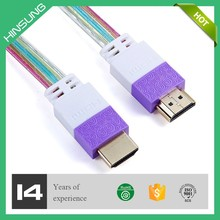 Flat HDTV cable 1080P 1.4 hdmi cable manufacturer