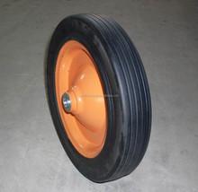 high quality 4.00-8 wheelbarrow solid rubber wheel
