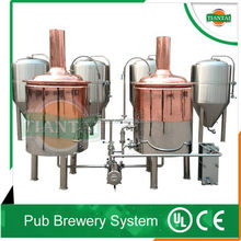 steam jacket/electric heating micro red copper beer brewing kettle 100l-500l