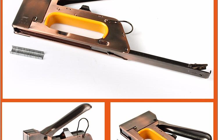 Khí nén staple gun bề mặt mạ bronze cao gỗ chất lượng staple gun vỉ đóng gói