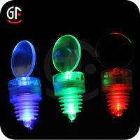 Wholesale Night Bar Promotional Product High Quality Flashing Lighted Wine Bottle Stoppers