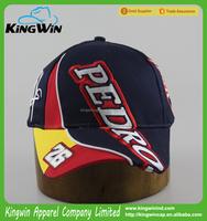 100% Cotton High Quality Custom Design Embroidery Racing Sports Baseball Cap