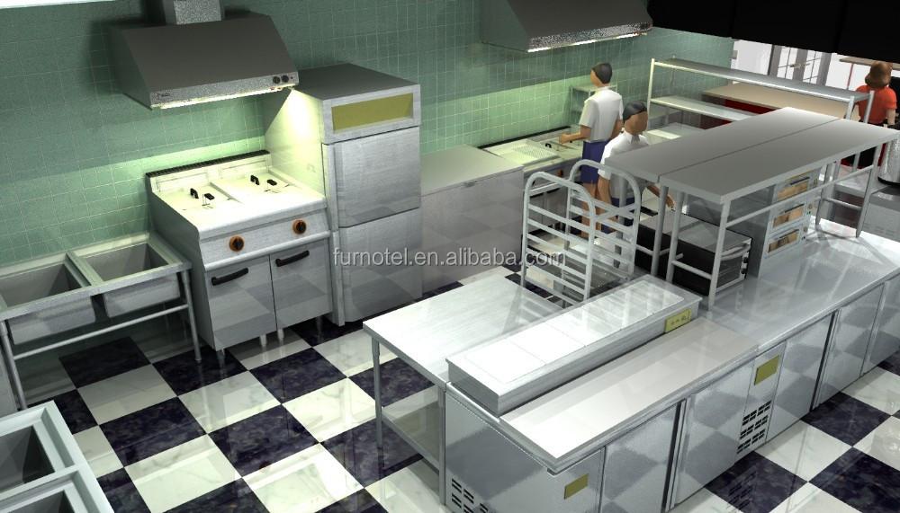 Guadeloupe Fast Food BKB Restaurant Kitchen_60096051059 on Free Online Floor Plan Layout