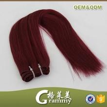 Alibaba china wholesale no tangle no shedding straight brazilian remy hair weaving 99j