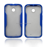 Blue PC gel TPU Phone protecter for Moto E Mobile Skin