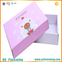 Lovely design glossy art paper birthday gift box with paper bags