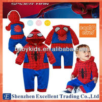 Cool Spider Long Sleeve Baby Romper with Hooded Adult Baby Clothes