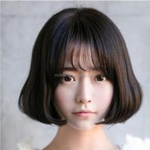 2015 new large hand-woven scalp wig fluffy short volume pear head bangs wig air thin shelf